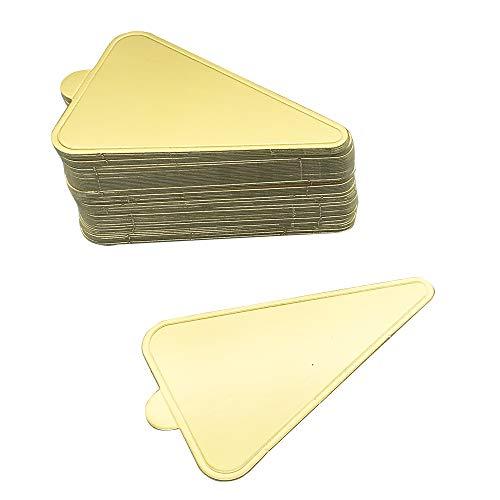 Mini-Kuchenuntersetzer, quadratisch, goldener Karton, 100 Stück, für Kuchen, Pappteller, Dessert, Boden, fettfest und gefrierbar, quadratisch, rund, Einweg-Untersetzer #7