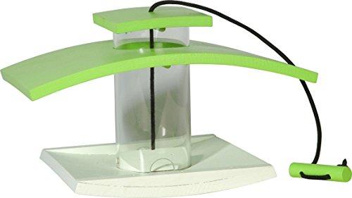 Luxus-Vogelhaus 33940e Vogelfutterspender mit Acryl glassilo und Kordel zum Aufhängen, hellgrün/weiß - 2