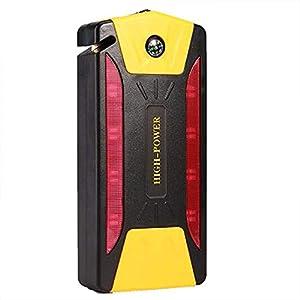Arrancador de emergencia portátil de 12Vah 12V Compresor de aire Paquete de batería de refuerzo Quad USB con luz de…