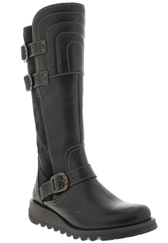 FLY London Damen Sher730fly Biker Boots Diesel/Diesel Wildleder