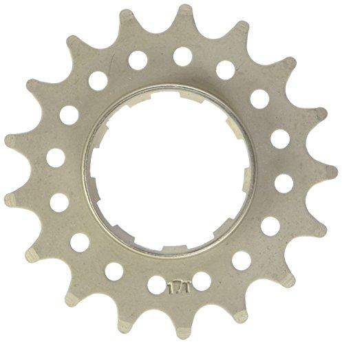 Point  Ritzel Single Speed, Distanzring-Stärke 1,8mm, Cr-Mo Stahl, silber, 17 Zähne, 02021701 - Professionelle Stärke Zahn