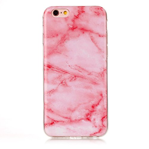 Cover iPhone 6 6s, Sportfun Modello in marmo morbido protettiva TPU Custodia Case in silicone per iPhone 6 6s (01) 01