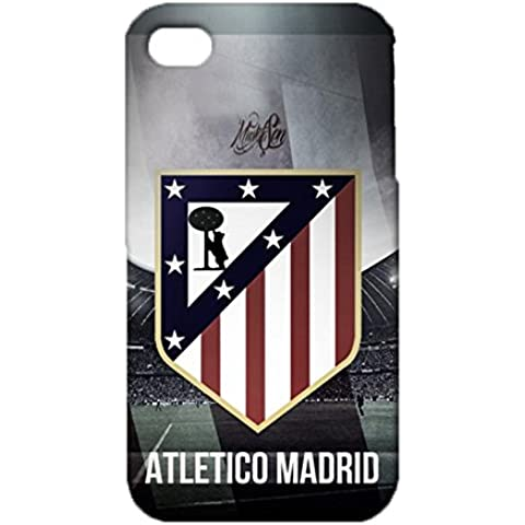 3D Atletico Madrid Phone Case for IPhone 4 4s , IPhone 4 4s 3D Atletico De Madrid FC Logo Cover Case Primera Division De Liga Artistic Style