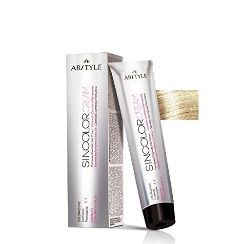 AB Style | sincolor Cream Couleur permanent professionnelle pour cheveux en crème à oxydation, blond polaire Doré 12.03 (100ml)