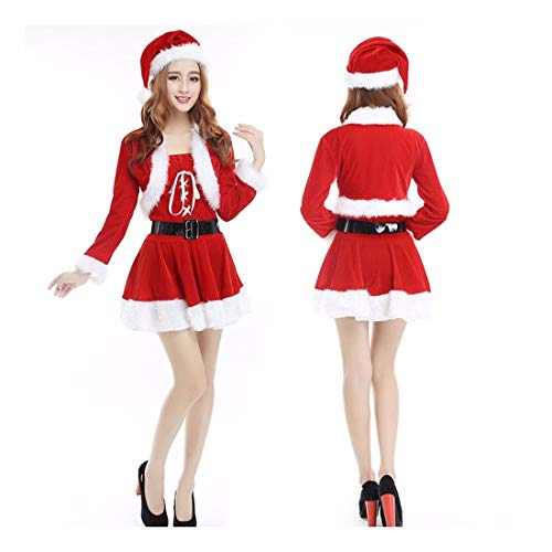 SDLRYF Weihnachtsmann Kostüm Weihnachten Kostüm Erwachsene Männer Und -