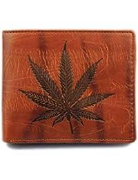 BaZhaHei-Cartera Carteras Hombre Hombres de Cuero Card Cash Receipt Holder Organizer Bifold Wallet La Billetera Corta de los…