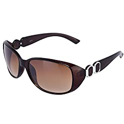 Silver Kartz Rectangular Unisex Sunglasses (wy048|40|Brown)