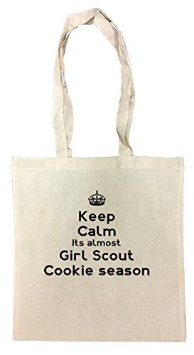 keep-calm-its-almost-girl-scout-cookie-season-bolsa-de-compras-de-algodon-reutilizable-cotton-shoppi