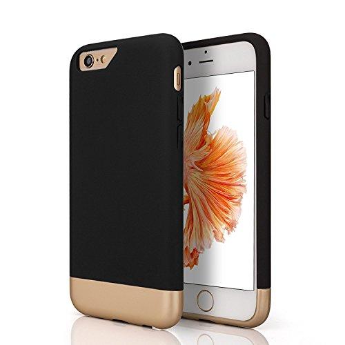 OKCS iPhone 6/6s Case - Schutzhülle Back Hard Cover - Schwarz Gold