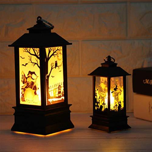 Portavelas de Halloween, velas de imitación de llama, velas de calabaza, velas de noche, velas de té LED, velas para decoración de Halloween, parte de lámpara de aceite de llama simulada 6# As Picture Show