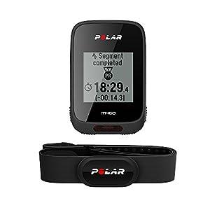 Polar M460HR - Ciclocomputador, sensor de frecuencia cardíaca H10 incluido, color negro, talla M