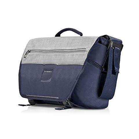Everki ContemPRO Laptop Bike Messenger - Fahrrad Umhängetasche für Notebooks bis 14,1 Zoll (35,8 cm) / MacBook Pro 15 Zoll mit Schlaufen für Fahhradschloss und Blinklicht wie vielen hochwertigen Funktionen, Navy