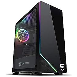 Nfortec Vega RGB - Caja de ordenador para gaming (cristal templado) color negro