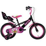 Townsend Girl's Diva Bike - Pink/Black, 4-6 Years