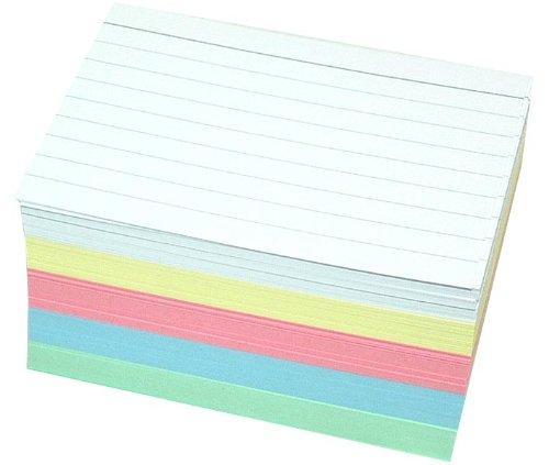 Staufen 200 Karteikarten DIN A8 in 5 Farben zweiseitig liniert
