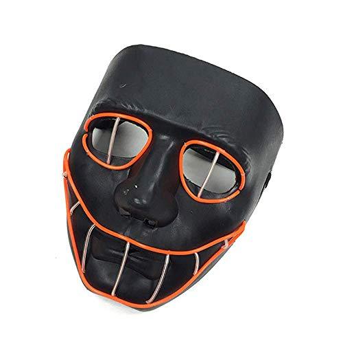 Eyes Erwachsene Kostüm Für Snake - Peiyu Maske Halloween Black Snake Eye Glühende Maske Nachtshows für Musikfestivals