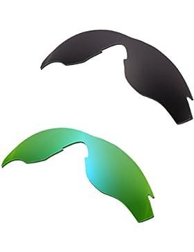 Hkuco Plus Mens Replacement Lenses For Oakley M2 Black/Emerald Green Sunglasses