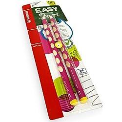 Stabilo Easygraph Escritura a Mano Lápices - Hb - Zurdos - Rosa Barrel - Pack de 2