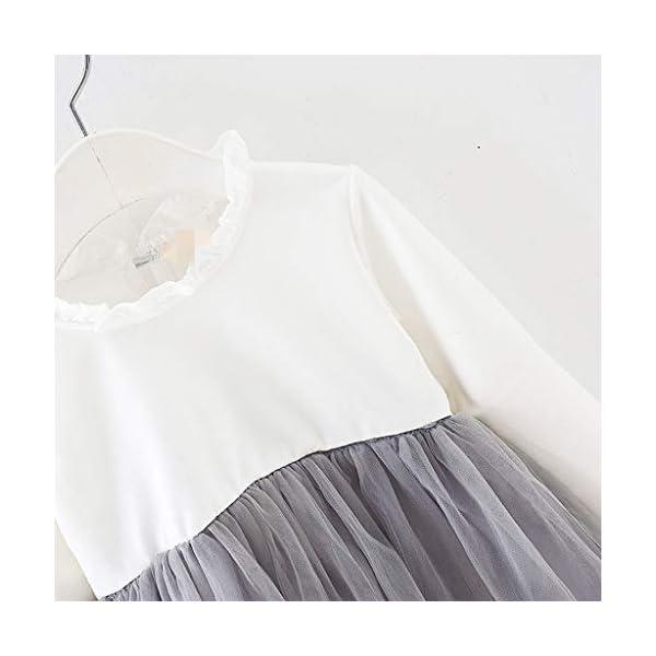 Heetey - Conjunto de Ropa y Abrigo para niña, con Volantes, Manga Larga, Vestido de Princesa + Chaqueta, Lazo, suéter… 5