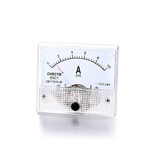 atoplee DC 10A Ampermeter Analog Amp Current Panel Meter Amperemeter Gauge -