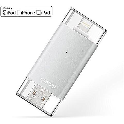 [Certificado por Apple MFI] OMARS 2ª generación Memoria USB 3.0 32 GB para IPhone, IPad, MacBook, Computadoras, Laptops Flash Drive con conector rayo [Compatible con iOS9]