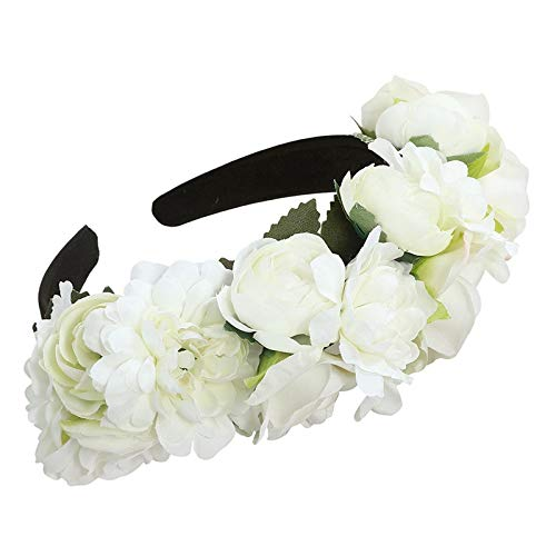 Fang-denghui, Prinzessin Flower Bunte Blume Blumenstirnband für Frauen und Mädchen Haarschmuck Neue Braut Böhmische Blume Stirnband Strand Headwear (Color : - Softball Prinzessin Kostüm