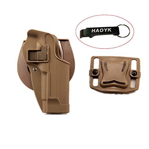 haoYK Taktische Airsoft Pistole Concealment Ziehen Rechtshänder Paddle Gürtel Pouch für M9 M92 (DE) -