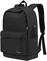 School Backpack, Water Resistant College Student Laptop Backpack For Women Girl Men Boy, Canvas Outdoor Bag W/...
