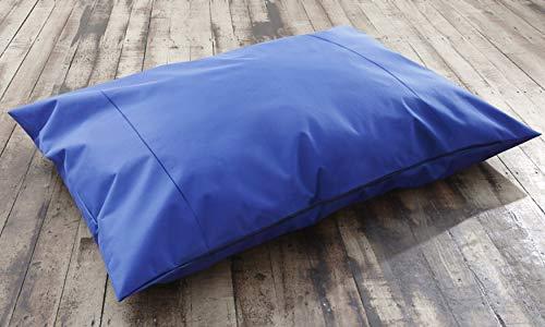 Ashley Mills Große Jumbo-Polster Pet Kissen Kissen Garten Weiche Kuschelkissen Wildleder Jacquard, Plain Blue, 85 x56cm -