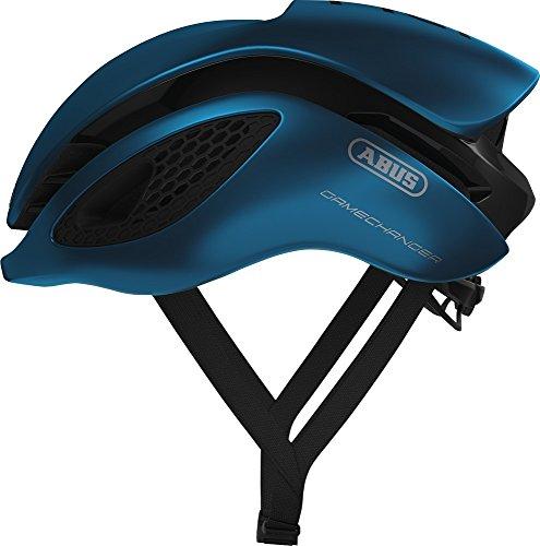Abus Gamechanger Aero- Helm Fahrradhelm, Blau (steel blue), L (57-62 cm)