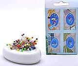 Trimz Magnet-Nadelkissen, weiß, 12x 8x 3cm