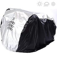 SACONELL - Funda Impermeable para 3 Bicicletas (Resistente al Polvo y a los Rayos ultravioletas), 3 Bike Cover