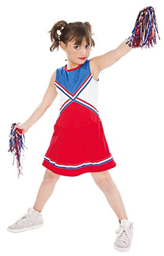 Kostüm Pompom Girl Kinder, für 5- bis 6-Jährige (Kostüm Für Fünf Jährige)