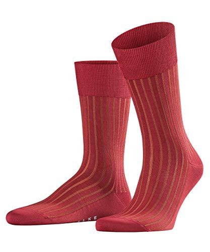 FALKE Herren Shadow Baumwolle Rippoptik Strümpfe 1 Paar Business Socken, Blickdicht, Cherry, 41-42 -