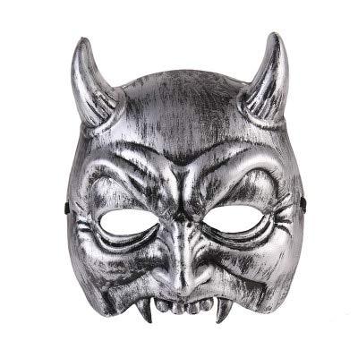 Dodom Halloween Ostern Horrible Ghost Style Rote Gesichtsmaske Cosplay Maske Horror Kostüm PVC Red Devil Mask, Bildfarbe