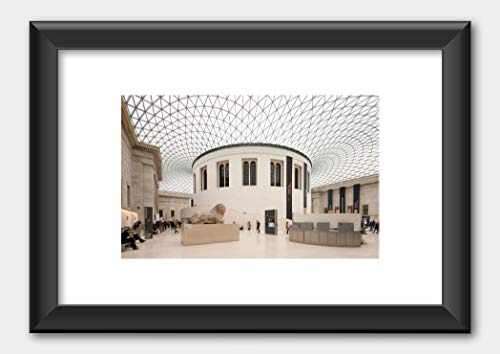 Interior view of the Great Court after its conversion British Museum London Poster Black Frame White 29.7x42cm (A3)