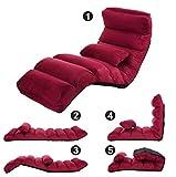 1 Pack, Faltendes Faules Sofa Boden Stuhl Couch Betten Gaming Lounge Stuhl Einstellbar Mit Kissen Home Linving Zimmer Japanische Sofa Möbel