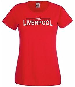 100% Liverpool Fan T-Shirt Ladies Red 12-14