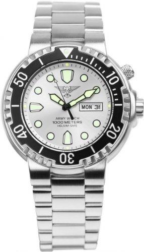 Eichmüller EP841–Uhr für Männer, Edelstahl-Armband Silber