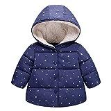 Kinder mit Kapuze Wattierte Jacke Mädchen Wintermantel Schneeanzug Kleinkind Steppmantel Gepolsterte Daunen Baumwolle Jacke
