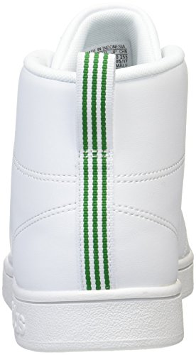 adidas Advantage CL Mid, Chaussures de Fitness Mixte Adulte Blanc (blanc Footwear / blanc Footwear / vert)
