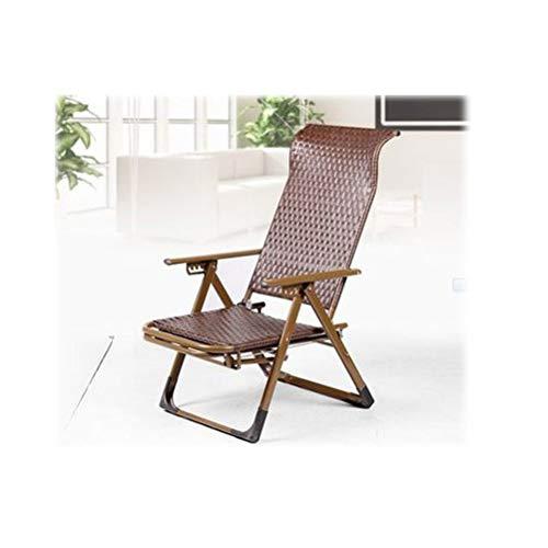 Cane Chair Klappbarer erweiterter Fußhocker Strandstuhl Alter Mann Liegestuhl Sehne Stuhl Zero Gravity Stuhl Faltbarer Stuhl Camping Einzelner Liegeplatz Mittagsruhe Stuhl Fauler Stuhl Freizeitstuhl