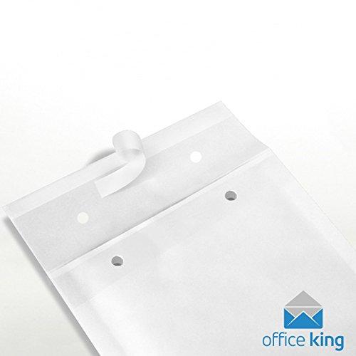 50 x Luftpolstertaschen Gr. G/7 (250x350 mm) DIN A4+ C4 WEISS - Marken-Qualität von OfficeKing®