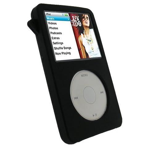 iGadgitz Rose Silicone Gel Etui Housse Case Cover pour Apple iPod Classic 80GB 120GB & (160GB sortie en Sept 09) + Protecteur d'écran + L'anière