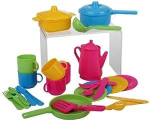30 tlg Küchenset für Spielküche Töpfe Kinderservice