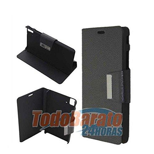 Todobarato24h Funda Libro Negro para BQ Aquaris Fnac Phablet E5 HD FHD