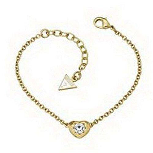 Guess UBB51414Damen Armband Herz Edelstahl gold weiß Zirkonia 20cm
