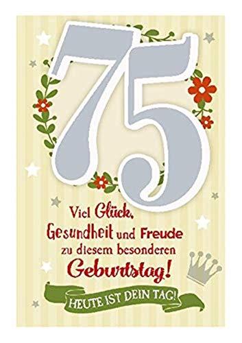 Glückwunschkarte mit Musik, 75. Geburtstag ()