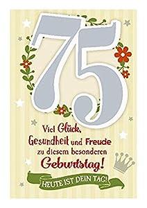 Depesche 5698.096Tarjeta de felicitación con música, 75. Cumpleaños, Multicolor
