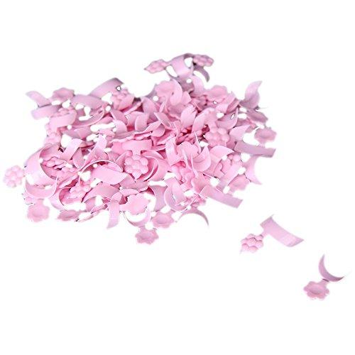 FACILLA® 100PCS Mini Faux Ongle Français Acrylique Rose Déco Nail Art DIY Manucure